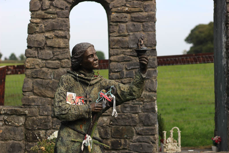 St. Brigid statue in Kildare at the holy well