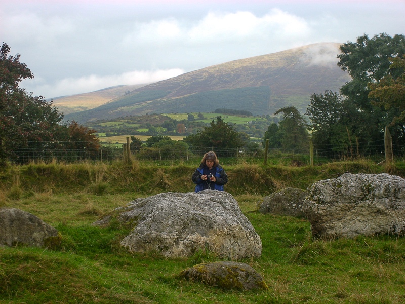 Standing by the portal stones at Castleruddery Stone Circle - Wicklow