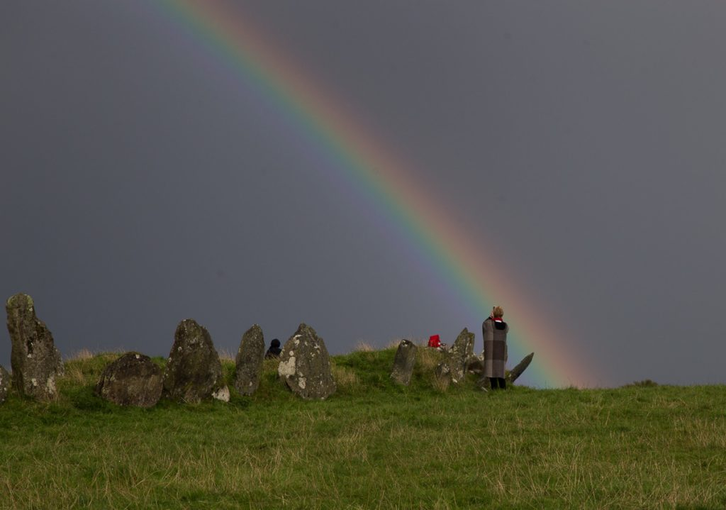 Rainbow at Beltany Stone Circle - County Donegal