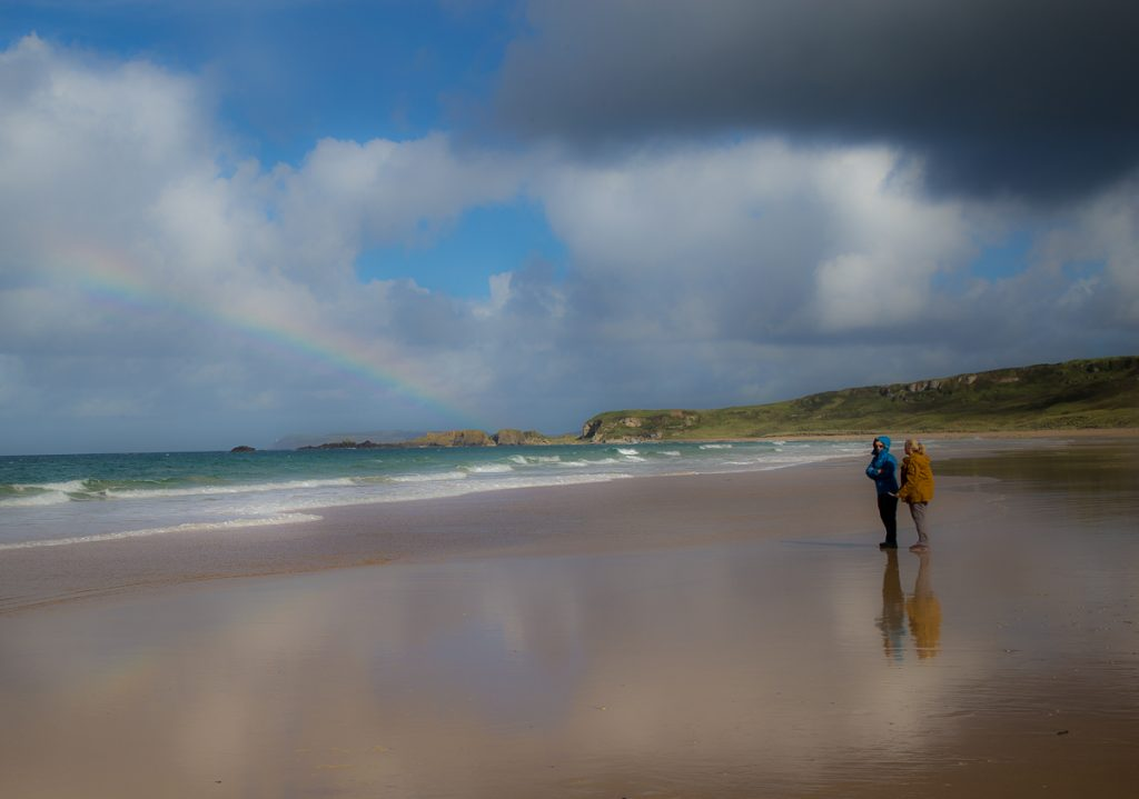 Walking the beach in September - White Park Bay