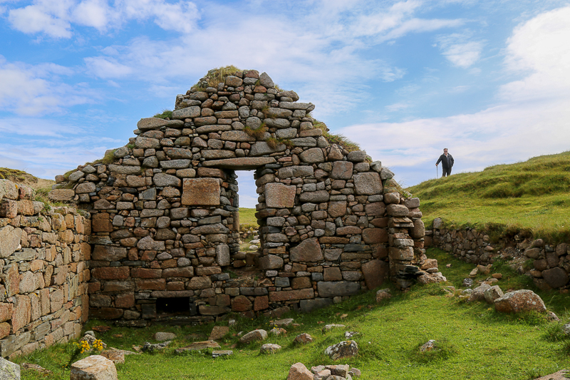 Travel to Ireland - Church ruin on Omey Island in Connemara