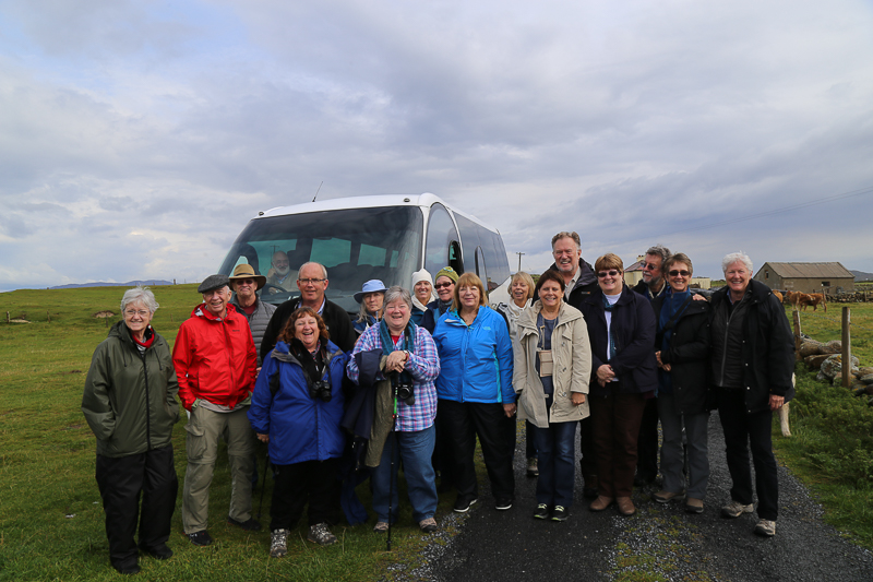 Tour group on Omey Island with Archaeologist, Michael Gibbons
