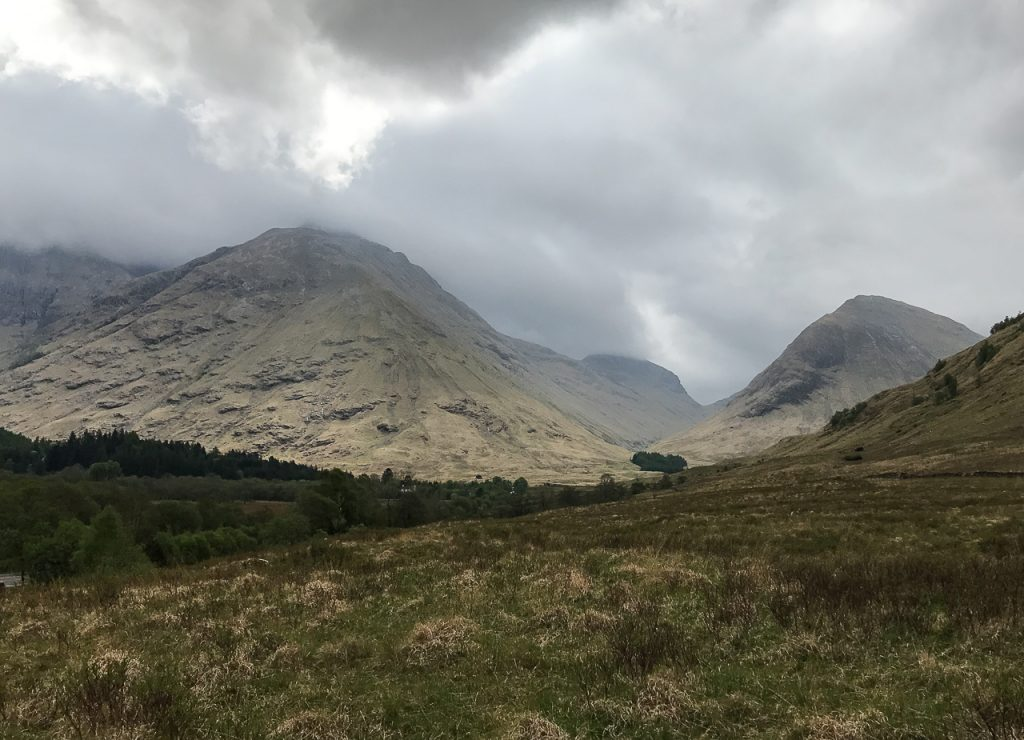 Glencoe site of the Glencoe Massacre - Scottish Highlands