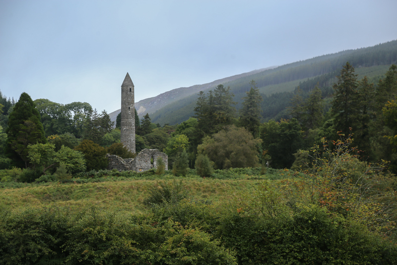 Glendalough - part of the monastic city ruins