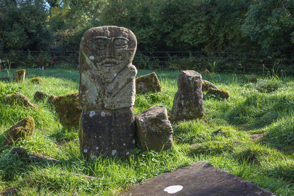 Janus figure at Caldragh Megalithic Graveyard