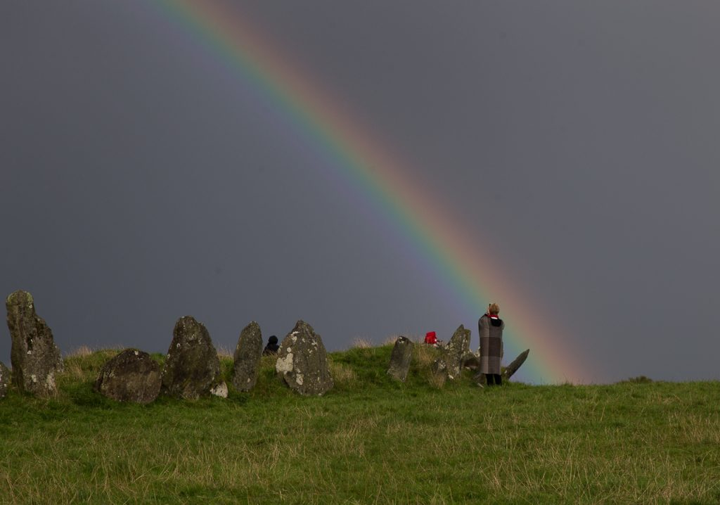 ireland thin north places scotland rainbow landscape spiritual tour tours donegal beltany circle stone county thinplacestour