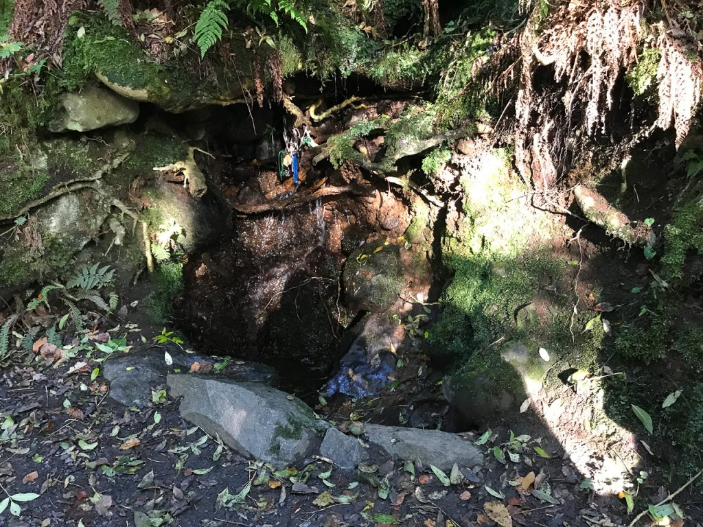 Holy well at the Glenariff Waterfall Nature Reserve