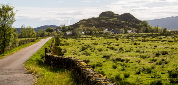 Dunadd Fort in the Kilmartin Glen, Argyle Scotland