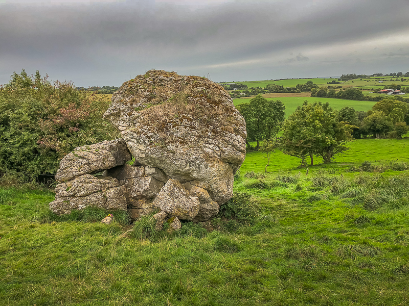 Cat Stone - Hill of Uisneach. Marks point the 4 Ireland provinces intersect